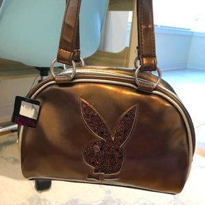 Playboy Purse - Authentic Metallic Bronze Vintage NWT